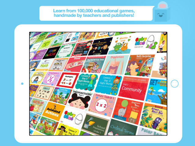 Play educational games from teachers
