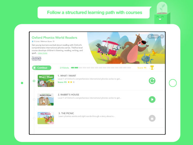 Play structured courses for kids