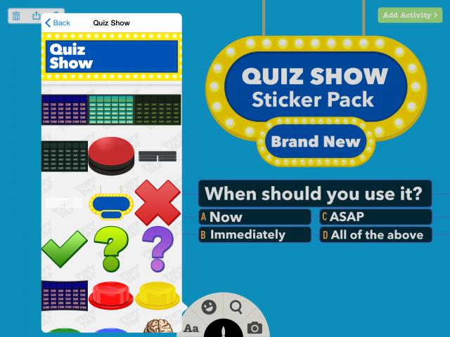 Quiz Show sticker pack
